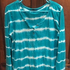 Lucky brand turquoise tie dye, XL